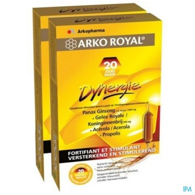 Arkoroyal Dynergie Amp 2x20+gel Hydro. Grat. 110ml