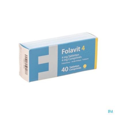 Folavit 4 4mg Tabl 40 X 4mg