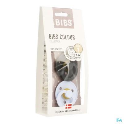 Bibs 1 Fopspeen Duo Iron Baby Blue