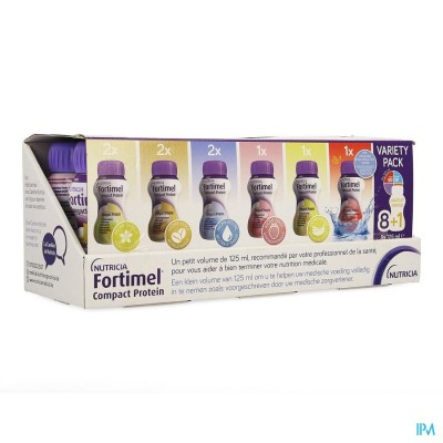 FORTIMEL COMPACT PROTEIN VARIETY PACK 8+1 X125ML