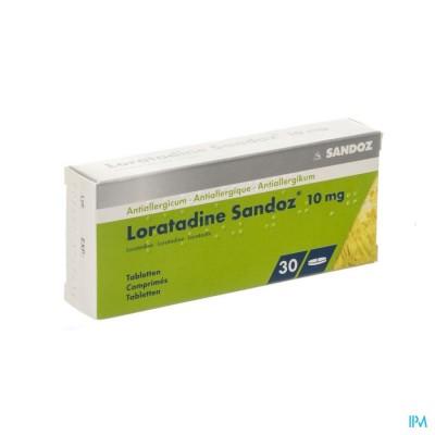 Loratadine Sandoz Comp 30 X 10mg