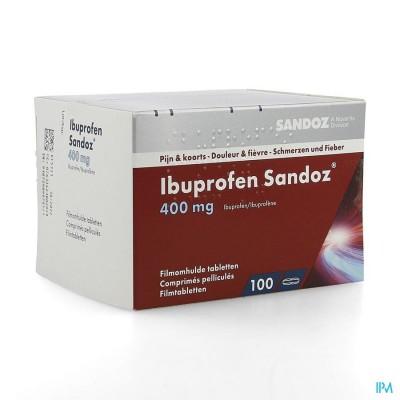 Ibuprofen Sandoz 400mg Comp Pell 100x400mg