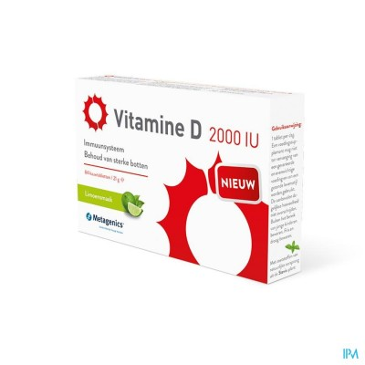 Vitamine D 2000iu Metagenics Tabl 84
