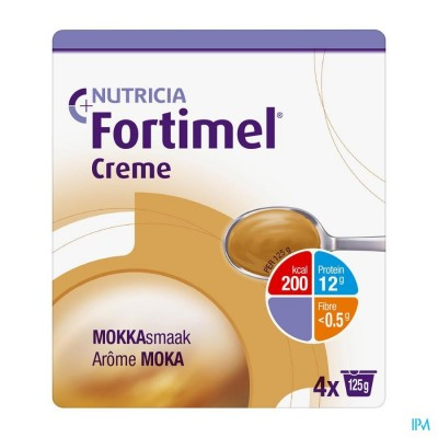 Fortimel Creme Mokka 4x125gr
