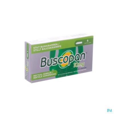 BUSCOPAN SUPP 6 X 10 MG