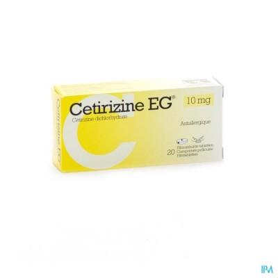 CETIRIZINE EG COMP 20 X 10 MG