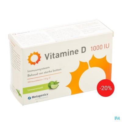 VITAMINE D 1000IU COMP 168 PROMO -20% METAGENICS