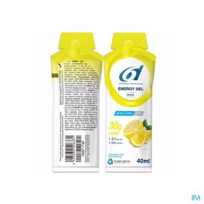 6d Sixd Energy Gel Lemon 12x40g