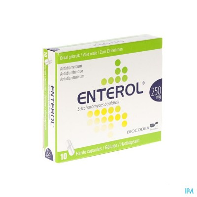 Enterol 250mg Caps Harde Dur S/blister 10x250mg