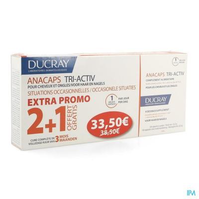 Ducray Anacaps Tri-activ Caps 3x30 Prijs Promo
