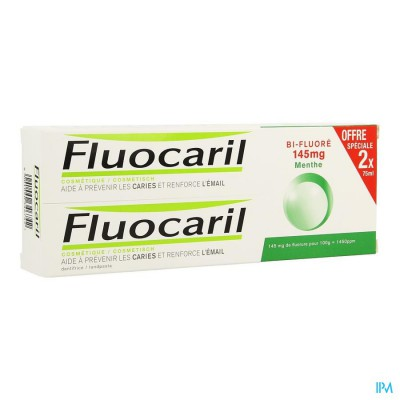Fluocaril Bi-fluore 145 Munt Duo 2x75ml