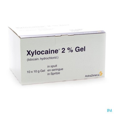 XYLOCAINE GEL SER/SPUIT 10X10G 2%