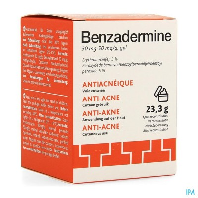 BENZADERMINE 30 MG/50 MG GEL POT 23,3 G