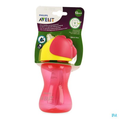 Philips Avent Drinkbeker Rietje Girl Roze 300ml SCF798/02