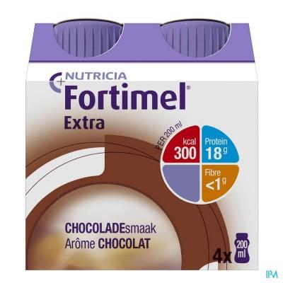 Fortimel Extra Chocolade Flesjes 4x200ml