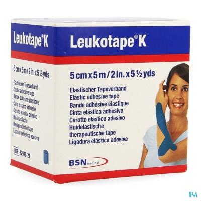 Leukotape K Kleefwindel Elast Blauw 5,0cmx5m 1