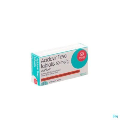 Aciclovir Teva Labialis Creme Tube 2g
