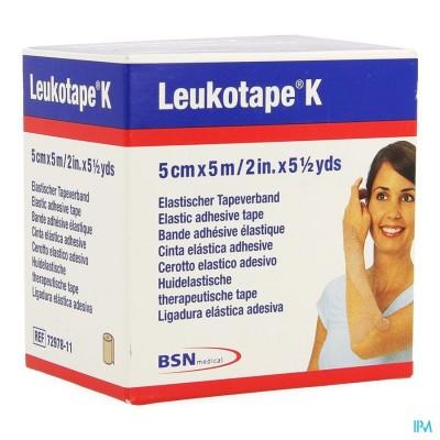Leukotape K Kleefwindel Elast Huid 5,0cmx5m 1