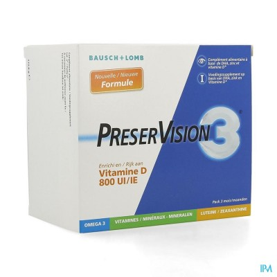 Preservision 3 + Vit D3 Caps 180
