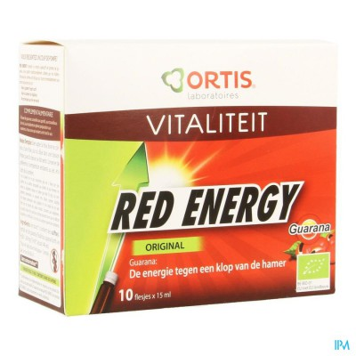 Ortis Red Energy Bio Alc 10x15ml