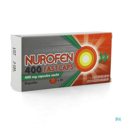 Nurofen 400 Fastcaps 400mg Pi Pharma Caps 20 Pip