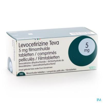 Levocetirizine Teva 5mg Filmomh Tabl 100 X 5mg