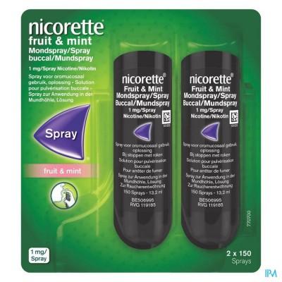 Nicorette Fruit & Mint 1mg Spray Dos 2x150