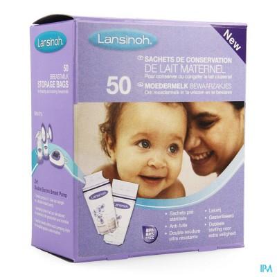 Lansinoh Moedermelk Bewaarzakjes 50