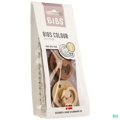 Bibs 1 Fopspeen Duo Woodchuck Blush