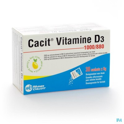 CACIT VIT. D3 1000MG/880IE BRUISGRANUL. ZAKJE 30