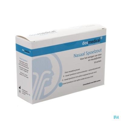 DOS MEDICAL NASAAL SPOELZOUT+XYLITOL ZAKJE 30X6,5G