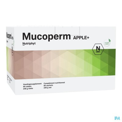 Mucoperm Apple+ 60 ZAKJES 240G
