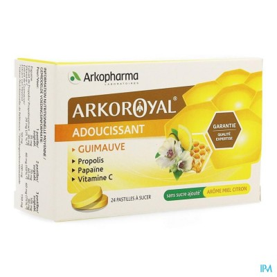 Arkoroyal Propolis Papaine Honing Pastilles 24