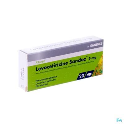 Levocetirizine Sandoz 5mg Comp Enrob. 20 X 5mg