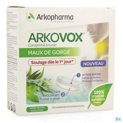 Arkovox Keelpijn Munt Eucalyptus Zuigtabletten 20