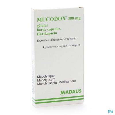 MUCODOX 300 MG CAPS 14