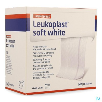 LEUKOPLAST SOFT WHITE 6CMX5M