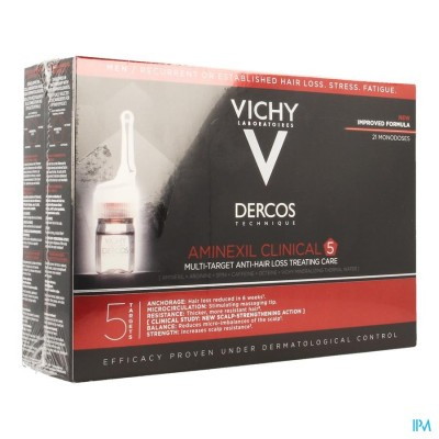 Vichy Dercos Aminexil Clinical 5 Men Amp 21x6ml