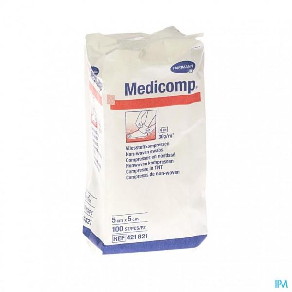 Medicomp 5x5cm 4l. Nst. 100 P/s