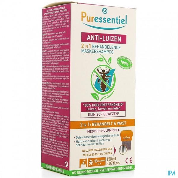 Puressentiel A/luizen Sh Behand. 2in1 150ml + Kam